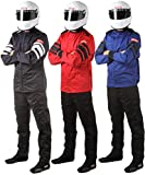 RaceQuip Racing Driver Fire Suit Jacket Multi Layer SFI 3.2A/ 5 Black Large 121005