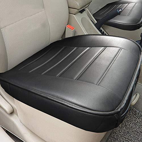 Big Ant Weich Sitzauflagen Auto Autositzberzüge Sitzkissen Auto Sitzauflagen Sitzbezug für Auto Vordersitze mit PU-Leder(Schwarz-2 Stück)
