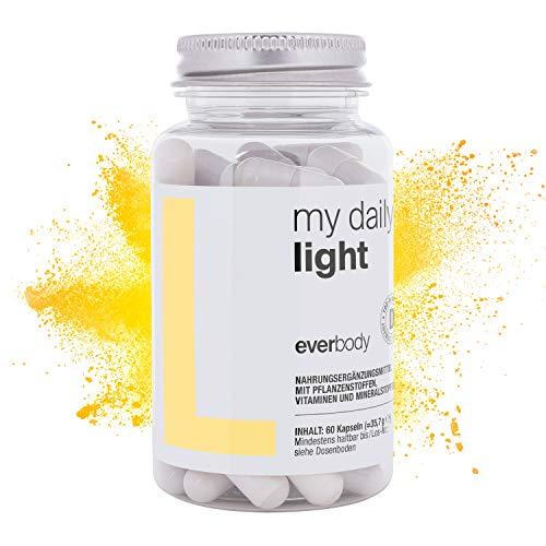 my daily YES® LIGHT | Darmreinigung Kapseln, Für optimales Darmflora Gleichgewicht, Entgiften des Körpers | Superfood Nahrungsergänzungsmittel zur Entgiftung, Entschlackung Darmsanierung [60 Kapseln]
