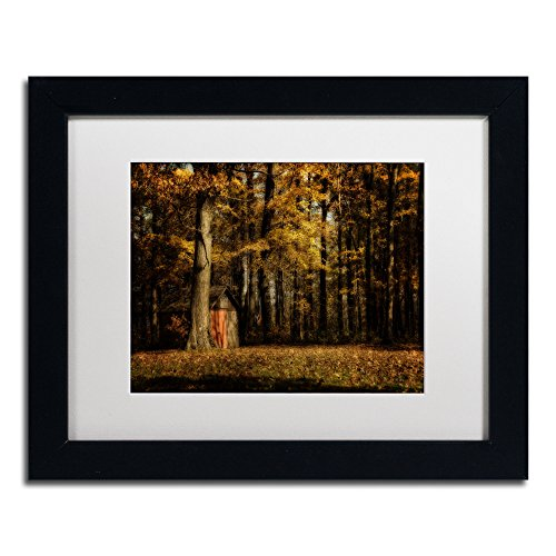 The Clearing Artwork by Lois Bryan, 11 by 14-Inch, White Matte with Black Frame