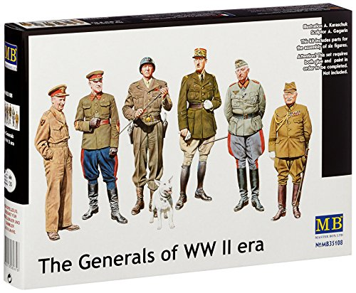 Masterbox 35108 WWII Generals 1:35 Plastic Kit Maquette