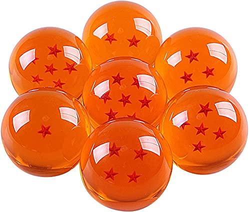 xixiBO Dragonball Collectible, Gran Cristal acrílico de Cristal con 7 Bolas de Estrellas con Juego Transparente Dragon Balls Caja de Regalo, 57 mm