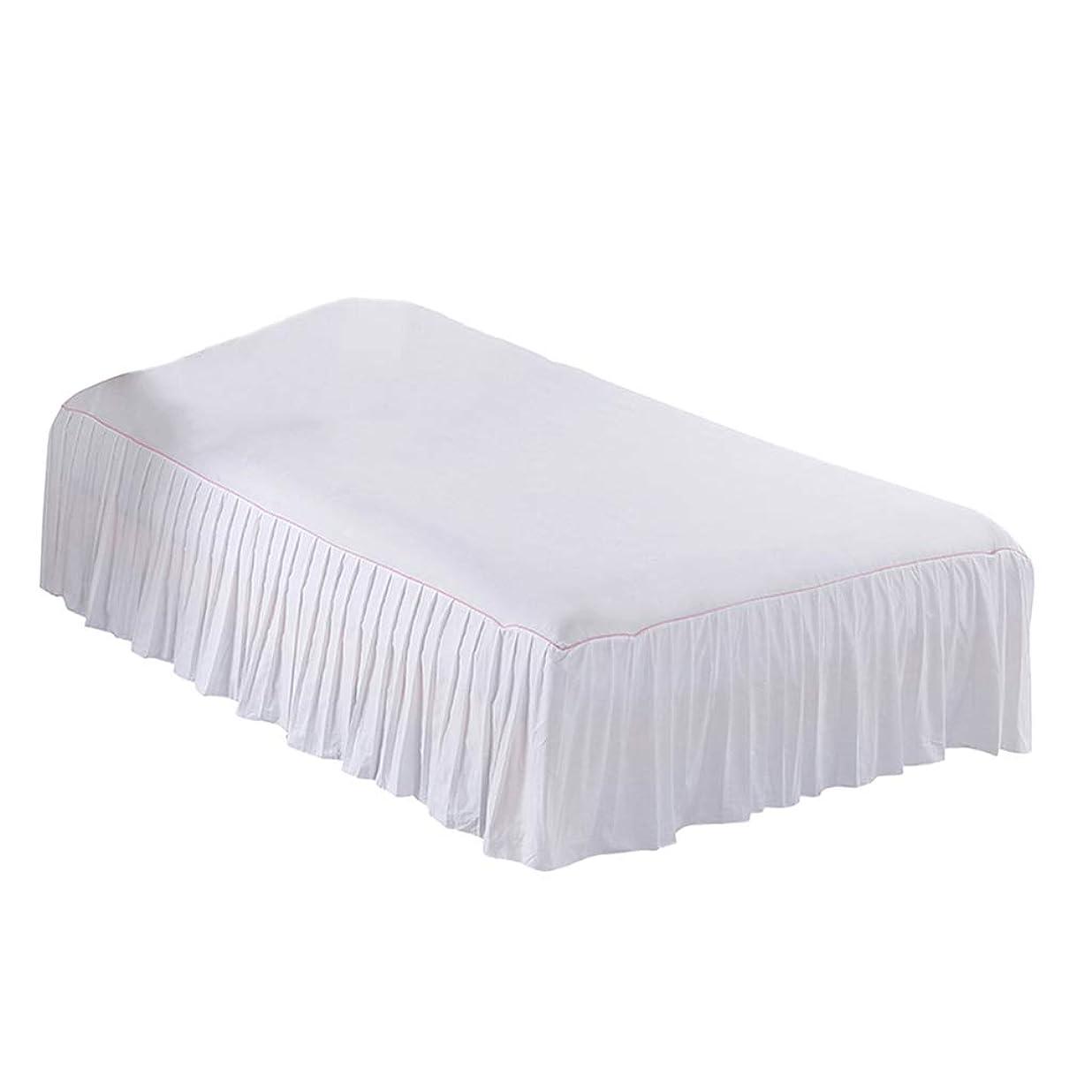 消費者値下げ以内にF Fityle 全8色2サイズ ベッドスプレッド(ベッドカバー) ベッドスカート雰囲気アップ 柔らかい ホテル品質 - ホワイト, 150x200cm