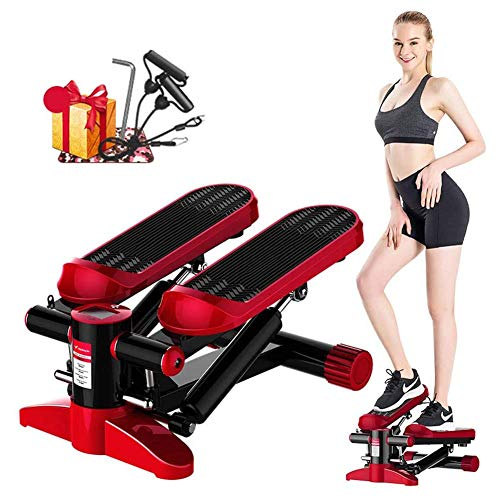 Best Prices! GLYHE Exercise Stepper, Adjustable LCD Home Gym Workout Step Machines, Weight Loss Fitn...