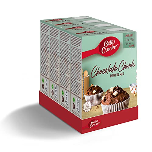 Betty Crocker Chocolate Chunk Muffin Cake Mix 335g (Pack of 4)