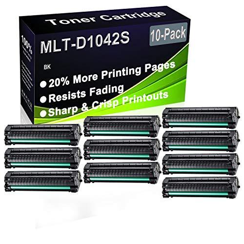 Paquete de 10 cartuchos de impresora láser ML-1660 ML-1665 ML-1670 ML-1675 ML-1860 ML-1865 ML-1865W (alta capacidad) de repuesto para Samsung MLT-D1042S