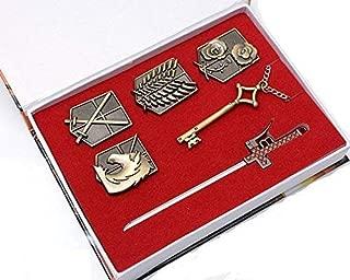 Goqun Attack on Titan Badge Weapon Key Pendant Set