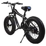 D&XQX Mountainbike, Schnee Fahrrad Strand-Fahrrad 4.0 Breitreifen leicht und Aluminium Faltrad mit Pedalen beweglichem Fahrrad,24in*15in