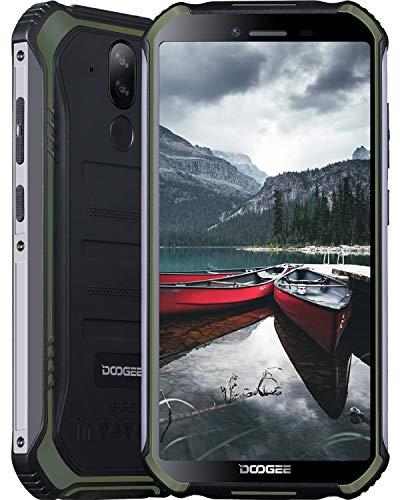 Smartphone, DOOGEE S40 Pro Móvil Libre Resistente, 4GB + 64GB(SD 256GB), Cámara 13MP+2MP, Cámara Frontal 5MP, 4650mAh Movil Antigolpes, Android 10 Teléfono 4G de 5.45' HD+ Pantalla, NFC, Verde