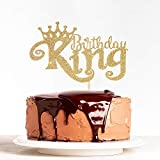 Gold Glitter King Birthday Cake Topper for Boy 1st 3rd 10th 16th 18th 20th 21st 25th 29th 30th 40th...
