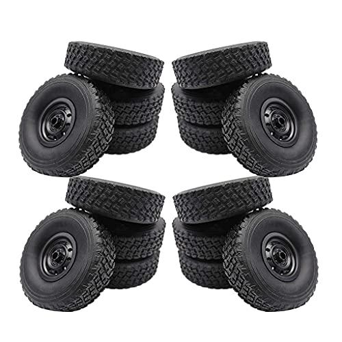 Neumáticos de coche 16x RC para WPL B14 B24K C14K Rock Crawler Piezas de repuesto para bricolaje