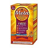 Metamucil Daily Fiber Supplement/Therapy For Regularity, Fiber Singles, Sugar-Free, Orange Smooth Singles, 30 ct (Pack of 6)