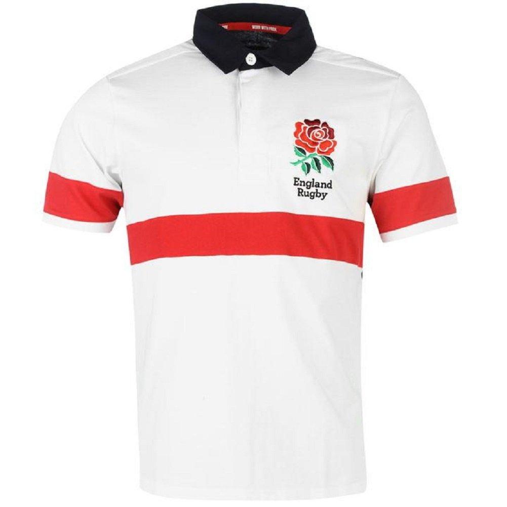 RFU Polo Jersey de manga corta de rugby de Inglaterra Niño Júnior ...