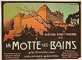 La Motte Les Bains Burteau Grenoble Poster, Reproduktion,