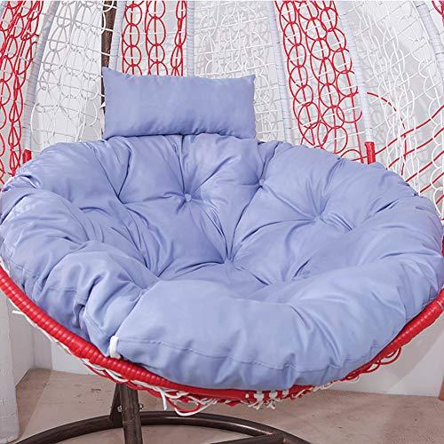 LICEA Round Non Slip Swing Chair Cushion with Pillow,Waterproof Thicken Hanging Egg Chair Cushion,Chair Seat Cushion for Patio Deck Yard Garden Hammock