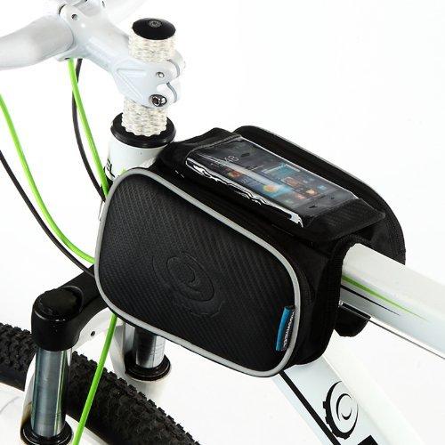 TopSku zwart ROSWHEEL 12,7 cm mobiele telefoon houder top fiets frame bagagedrager voorzakken tas tas