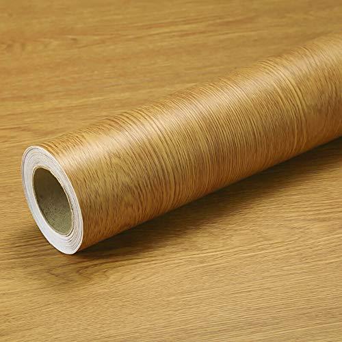 Klebefolie Möbel Selbstklebend Braun Retro Stil Holz 40cmX3m Wasserdicht Möbelfolie Tapeten Aufkleber Vinylfolie Dekofolie Möbelsticker Wand Tabelle Küche Schränke Abnehmbare