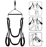 Šêx Šwivêl Šwing for Adult Couples S&éx Play Door Support 360 Degree Spining with Steel Triangle Frame and Spring Adjustable Strong Nylon S-Traps for Couples S&éx Play Support 600lbs