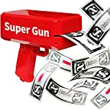 Novelty Place Super Money Gun - Cash Spray Money Shooter Make it Rain Toy - Designed for Real Bills - Come with Play Money