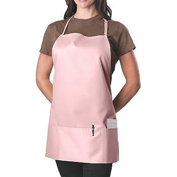 Pink Adjustable Bib Apron - 3 Pocket