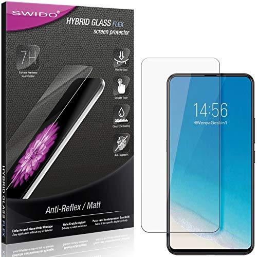 SWIDO Panzerglas Schutzfolie kompatibel mit Vivo NEX S Bildschirmschutz Folie & Glas = biegsames HYBRIDGLAS, splitterfrei, MATT, Anti-Reflex - entspiegelnd