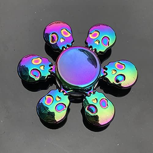 GRH Colorido Aleación de Metal Fidget Spinner Poco Ruido Twister Fingertip Gyro R188 Cojinete Suave Mute Rainbow Hand Spinner Juguetes para niños Regalos para Adultos Stress Reliever