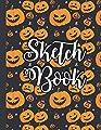 SketchBook: Cute Pumpkin Pattern Halloween Sketchbook for Kids, Boys, Girls & Teen. Perfect Gift idea for Student in Halloween, Christmas, Thanksgiving day.