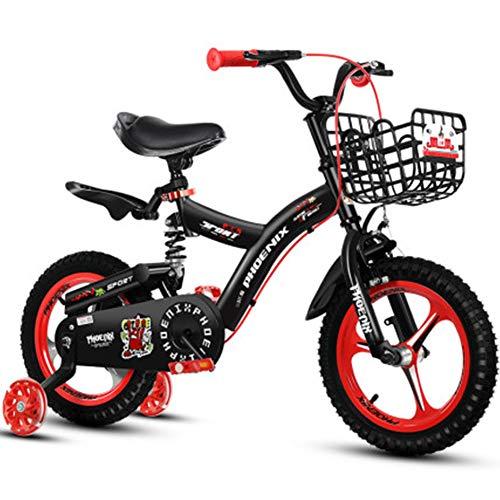 Niños Muchachas Niños Bicicleta 12 Pulgadas Bicicleta para 2-5 Años Antiguo Frente...