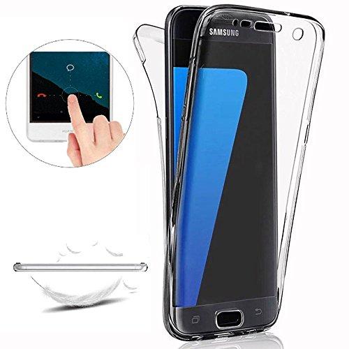 Funda Samsung Galaxy S4 Carcasas [Nueva Versión] [Cover 360 Grados], Doble Delantera + Trasera Gel Transparente Silicona Integral Shock Absorción Anti Rasguños Anti Choque Bumper Protectora Funda