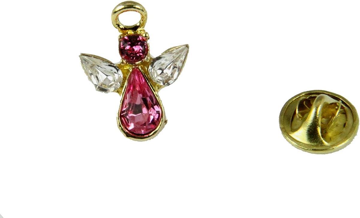 6030614 June Max 51% OFF Award-winning store Crystal Birth Month Pin Lapel Angel Brooch Guardian