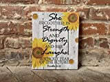Proverbs 31:25, Scripture, BEST Gift, She is Clothed in Strength and Dignity, Custom CANVAS, Perfect Present
