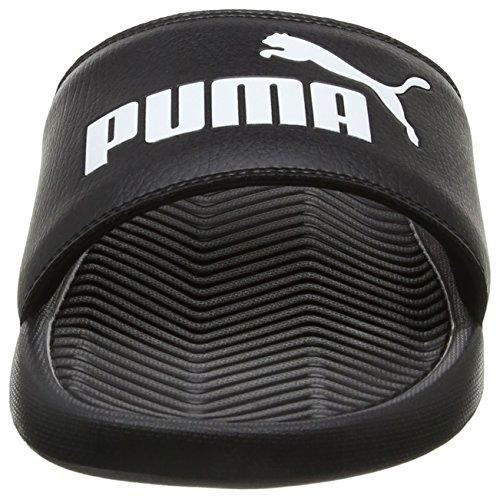 PUMA Popcat, Chanclas de Playa y Piscina Unisex Adulto, Negro (Black/Black/White), 43 EU