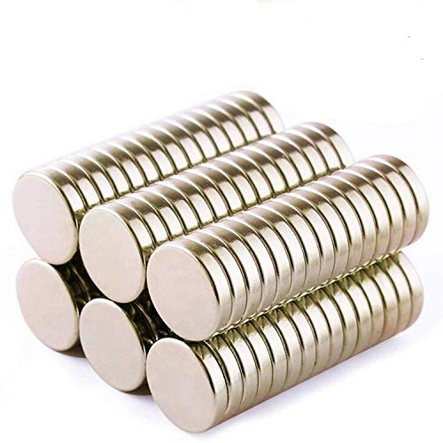 80 Pieces Deryun 10X2mm Round Cylinder Magnets Deep DIY Personalized Multi-Use for Fridge Door Whiteboard Magnetic Map Magnetic Screen Door Bulletin Boards Refrigerators