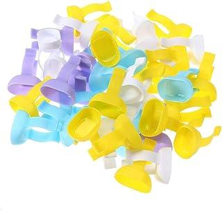 Healifty 歯科用ツール100ピース歯科用ボウルカップ使い捨て混合指輪歯磨き粉歯科用便利ツール(ランダムカラー)