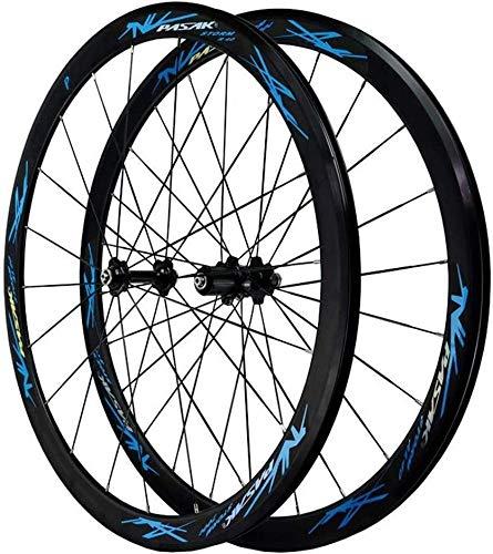Ruedas Bicicleta llantas MTB Camino de la bici de la rueda 700C, camino de la bicicleta de ruedas V freno de doble pared llantas de aluminio de 40 mm de BMX llanta de bicicleta rápida de estreno de 7