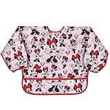 Bumkins Sleeved Bib Baby Bib, Toddler Bib, Smock, Waterproof Fabric, Fits Ages 6-24 Months – Disney Minnie Mouse Classic