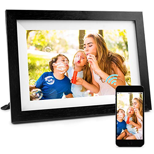 Henscoqi 10.1 inch WiFi Digital Photo Frame with IPS HD Display 1280x800, 16GB Storage Smart Digital Picture Frame Share Picture&Video...