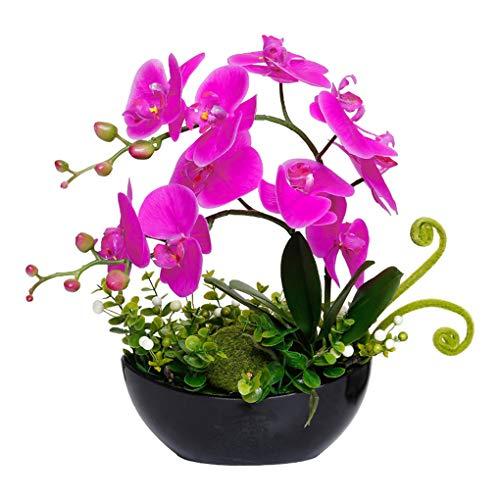 Sarazong Fleur Artificielle, Ornements de Salon Fleur de Phalaenopsis, décoration réaliste de Fleur de Toucher réaliste Floral pour la décoration intérieure Faux Fleurs,Black