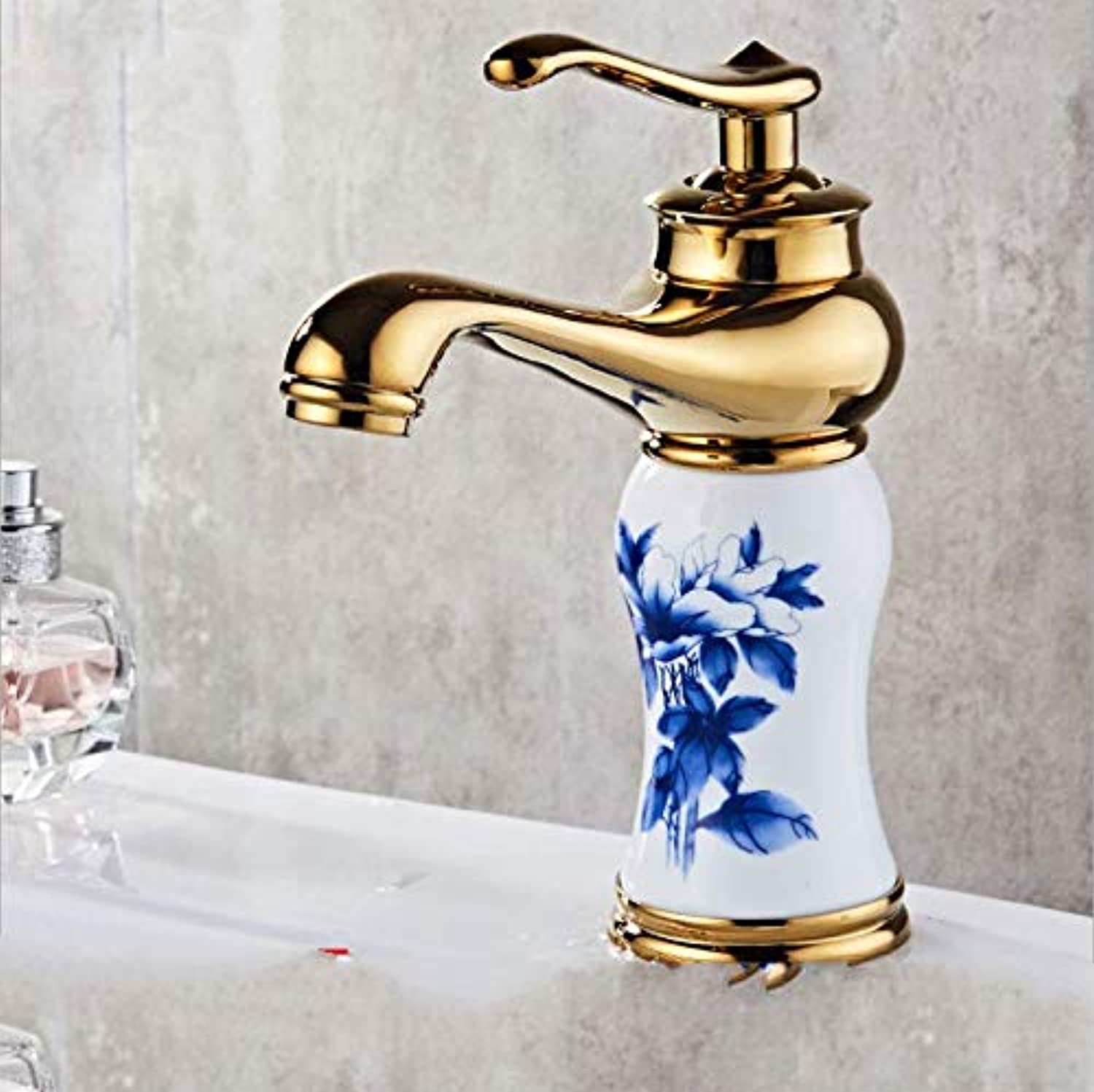 Jukunlun New Porcelain and Brass Faucet Chrome Finished Bathroom Basin Faucet Luxury Sink Tap Basin Mixer High Quality Water Tap