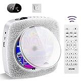 Lecteur CD portable mural Home Audio Bluetooth Boombox, Haut-parleur HiFi, Radio FM, USB MP3 Lecteur de musique, prise casque 3,5 mm AUX, cadeaux pour enfants