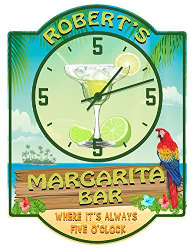 Redeye Laserworks Margarita Bar Always Five O'clock Wall Clock - Personalized