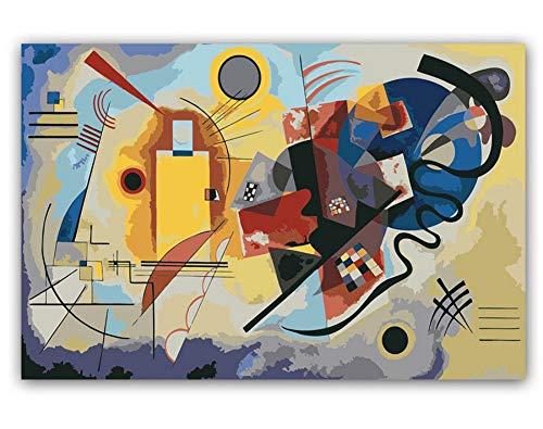 Msliuhuahua DIY Färbungen Bilder Nach Zahlen Mit Farben Kandinsky Abstract Geometry Bild Zeichnung Gemälde Nach Zahlen Gerahmt Nach Hause 40X50Cm Rahmenlos