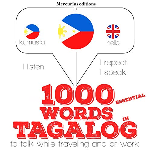 1000 essential words in Tagalog audiobook cover art
