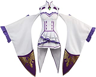 Re Life in a Different World from Zero Emilia Dress Cosplay Costume Halloween Outfit Gown