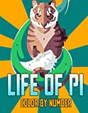 Life of Pi Color by Number: Golden Globe Award for Best Original Score Adventure Drama Film Illustration Color Number Book for Fans Adults Creativity Gift