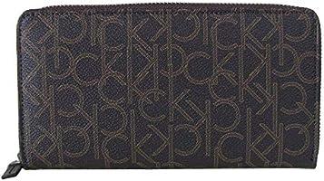 Calvin Klein Zip Around Wallet for Women-Chocolate