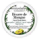 Beurre de mangue Naturebelle - Beurre 100% végétal et naturel - Pur - Sans parfum -100ml