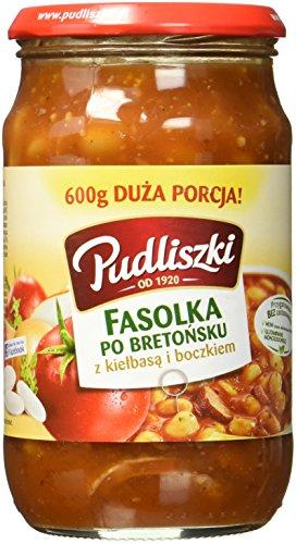 Pudliszki Bohnen mit Speck und Wurst in Tomatensauce, 8er Pack (8 x 600 g)