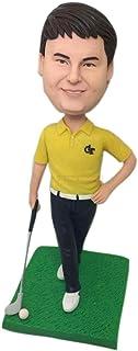 Regali personalizzati da golf Figurine di argilla Bobble Head basate sulle foto dei clienti Torta di compleanno Topper Reg...