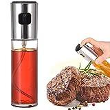 Cooking Olio d'oliva spruzzatore, Bottiglia Spray per Cucinare, cuocere, Grigliata, Vetro Multifunzione per grigliate da Cucina Gadget Migliori venditori 2021,Argento